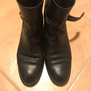 Black leather short boots from JCrew